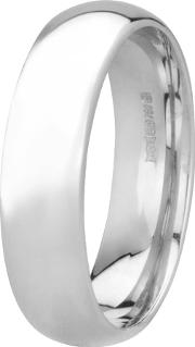 Pre Owned 18ct White Gold 6mm Wide Plain Wedding Ring 4187795