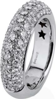 Pre Owned 18ct White Gold Pave Set Diamond Ring 4332948