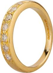 Pre Owned 18ct Yellow Gold 0.25ct Diamond Half Eternity Ring C605034 452