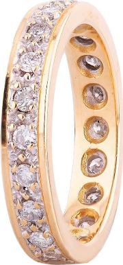 Pre Owned 18ct Yellow Gold 0.50ct Diamond Full Eternity Ring 4112549