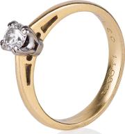 Pre Owned 18ct Yellow Gold Certified Leo Diamond Solitaire Ring 4148856