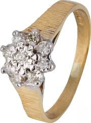 Pre Owned 18ct Yellow Gold Diamond Cluster Ring 4111350