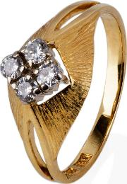 Pre Owned 18ct Yellow Gold Diamond Four Stone Ring 4111112