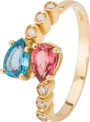 Pre Owned 18ct Yellow Gold Multi Gemstone Ring 4332943
