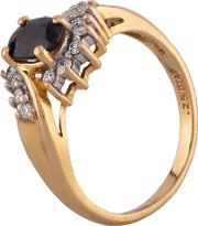 Pre Owned 18ct Yellow Gold Sapphire And Diamond Cluster Ring F606003 443