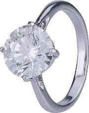 Pre Owned 3.12ct Round Diamond Solitaire Ring 4112475