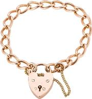 Pre Owned 9ct Rose Gold Curb Chain Bracelet 4107055