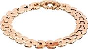 Pre Owned 9ct Yellow Gold 7.5 Inch Three Row Brick Link Bracelet 4107253