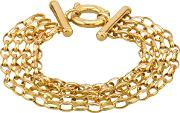 Pre Owned 9ct Yellow Gold 7 Four Row Belcher Chain Bracelet Hgm210301 0219