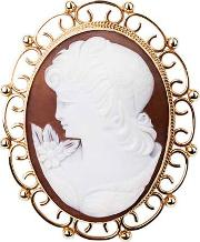 Pre Owned 9ct Yellow Gold Cameo Brooch 4113191
