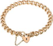 Pre Owned 9ct Yellow Gold Curb Chain Bracelet 4107002