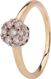 Pre Owned 9ct Yellow Gold Diamond Cluster Ring 4111591