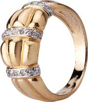 Pre Owned 9ct Yellow Gold Diamond Ring 4312183