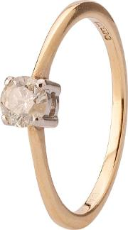 Pre Owned 9ct Yellow Gold Diamond Solitaire Ring 4136425