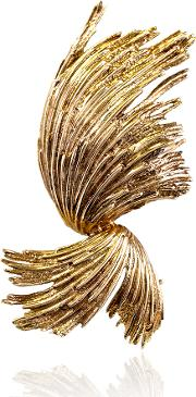 Pre Owned 9ct Yellow Gold Fancy Spray Brooch 4113183