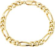 Pre Owned 9ct Yellow Gold Figaro Chain Bracelet 4128949