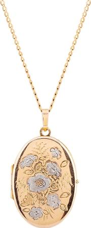 Pre Owned 9ct Yellow Gold Floral Locket Necklace L511553 452