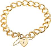 Pre Owned 9ct Yellow Gold Ladies Curb Chain Bracelet 4107073