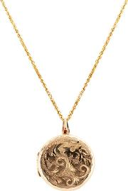 Pre Owned 9ct Yellow Gold Round Locket Necklace 4156779