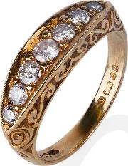 Pre Owned 9ct Yellow Gold Seven Stone Diamond Ring 4148784