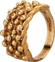 Pre Owned 9ct Yellow Gold Twist Four Row Keeper Ring Hgm330376 0619