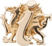 Pre Owned 9ct Yellow Gold Welsh Dragon Pin Badge Brooch 4113101