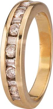 Pre Owned Baguette And Brilliant Diamond Eternity Ring 4111718