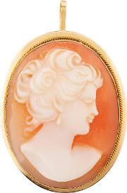Pre Owned Cameo Brooch Pendant 4156746
