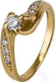 Pre Owned Diamond Crossover Ring 4111157