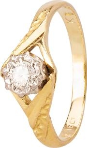 Pre Owned Illusion Set Diamond Solitaire Ring 4111871