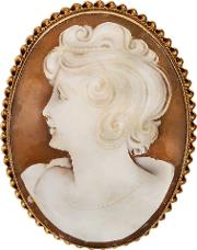Pre Owned Large Cameo Brooch 4113361