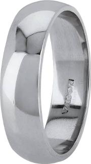 Pre Owned Palladium 6mm Wide D Shaped Wedding Ring 4187625