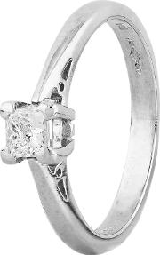 Pre Owned Platinum 0.25ct Princess Cut Diamond Solitaire Ring 4112580