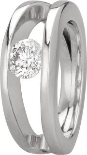 Pre Owned Platinum 0.70ct Tension Set Diamond Solitaire Ring 4112586
