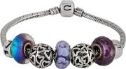 Pre Owned Silver Chamilia Charms And Charm Bracelet 4155873