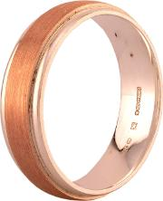 Pre Owned Sterling Silver Rose Gold Plated Plain Wedding Ring H511037 448