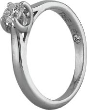 Pre Owned The Leo Platinum 0.35ct Diamond Solitaire Ring G607006 447