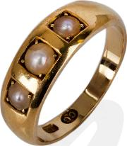 Pre Owned Three Stone Pearl Ring 4141433