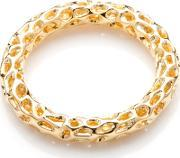 Allegro Gold Plated Lattice Ring A301ygmd