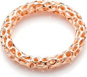 Allegro Rose Gold Plated Lattice Ring A301rgsm