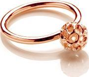 Globe Rose Gold Plated Ball Ring G300rgsm