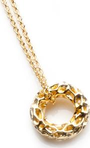 Gold Plated Mini Allegro Loop Pendant A100yg