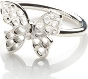 Silver Butterfly Ring F300svmd