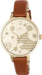 Ladies Ormond Gold Plated Strap Watch Ry2398