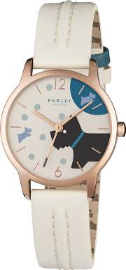 Ladies Over The Moon Rose Gold Strap Watch Ry2404
