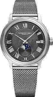 Mens Maestro Moon Phase Bracelet Watch 2239m St 00659