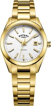 Ladies Gold Plated Havana Watch Lb0508102