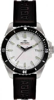Mens Black Rubber Strap Watch Ags0029306