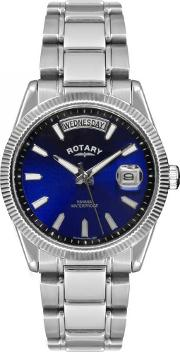 Mens Round Blue Dial Date Watch Gb02660 05