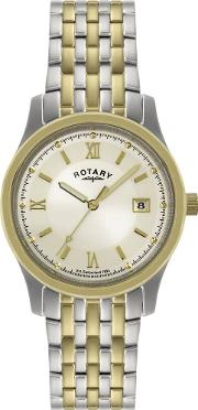 Mens Two Tone Watch Gb00793 09